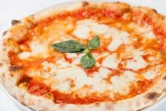 Italian pizza margherita Stock Images