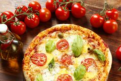 Italian Pizza Margherita Stock Image