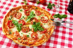 Italian Pizza Margherita Royalty Free Stock Images