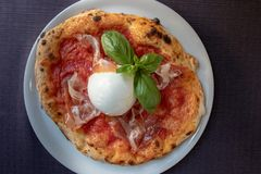 Italian Pizza, Top View royalty free stock photography