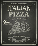 Italian Pizza Poster Royalty Free Stock Images