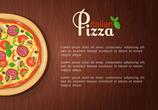 Italian pizza recipe with elements. Eps10 Royalty Free Stock Photography