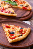 Italian Pizza with seafood. Royalty Free Stock Images