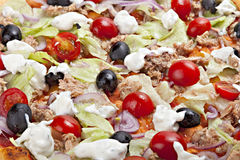 Italian pizza, selective focus, macro. Stock Photo