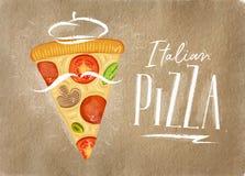 Italian pizza slice craft Stock Illustration