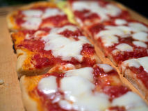 Italian pizza. Slices of pizza Royalty Free Stock Photography
