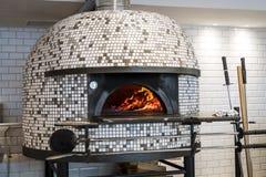 Italian pizza stove royalty free stock image