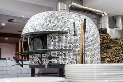Italian pizza stove stock photo