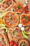 Italian pizza table Royalty Free Stock Photo