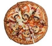 Italian pizza top view. Stock Image