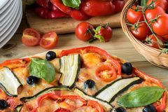 Italian pizza with vegetables Stock Photography