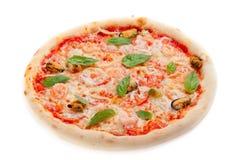 Italian pizza. On white background Stock Photos