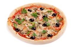 Italian pizza. On white background Stock Photography