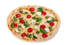 Italian pizza. On white background Royalty Free Stock Images
