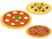 Italian pizzas Royalty Free Stock Photo