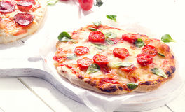 Italian Pizzas. Healthy food concept. royalty free stock photos
