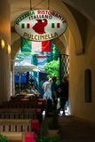 The Italian pizzeria in the old town. Royalty Free Stock Photos