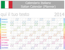 2014 Italian Planner-2 Calendar with Horizontal Months Stock Images