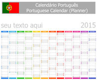 2015 Italian Planner Calendar with Vertical Months. On white background Stock Images