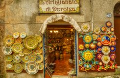A Little Sicilian Plate Art royalty free stock photos