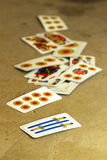 Italian playing cards Royalty Free Stock Images