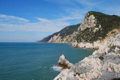 Italian poets' gulf. Mediterranean sea Stock Image