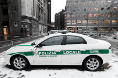 Italian police car Stock Photography