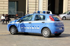 Italian Police Car Stock Photo