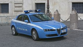 Italian Police Car Stock Image