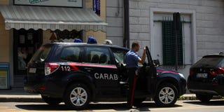 Italian police Royalty Free Stock Photography