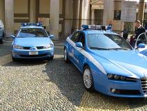 Italian police cars Stock Photos