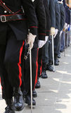 italian police of many italian armed forces marching in parade Stock Photo