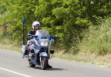 Italian police motorcycles Stock Photos