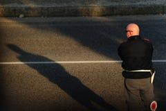 Italian highway police Royalty Free Stock Photos