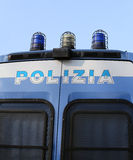 Italian POLICE pickup truck with sirene Stock Image