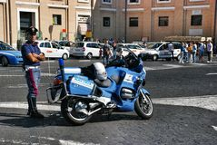 Italian police Royalty Free Stock Photos