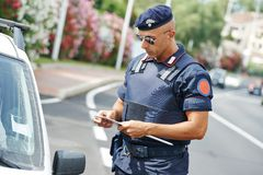 Italian policeman carabinier Royalty Free Stock Images