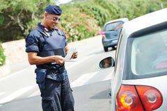 Italian policeman carabinier Stock Image