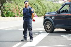 Italian policeman carabinier Royalty Free Stock Photos