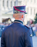 Italian policeman during a celebration Royalty Free Stock Image