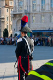 Italian policeman with plume's hat Stock Image