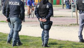 Italian POLICEMAN Royalty Free Stock Photo