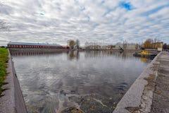 Italian pond in Kronshtadt Stock Photography