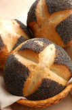 Italian poppyseed rolls Stock Photo