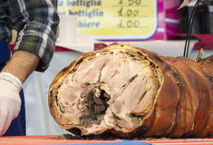 Italian porchetta Royalty Free Stock Images