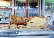 Italian porchetta at market Stock Images