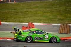 Italian Porsche Carrera 911 Cup at Monza Royalty Free Stock Photos