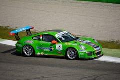 Italian Porsche Carrera 911 Cup at Monza Stock Images
