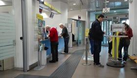 Italian Post office. Internal of Italian post office (Poste Italiane) in Rome, Italy Stock Images
