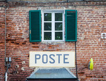 Italian postal office Stock Images